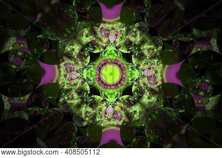 Caleidoscope Kaleidoscope Symmetrical Design Stunning Pattern Shapes Art Artsy Green Purple Backgrou