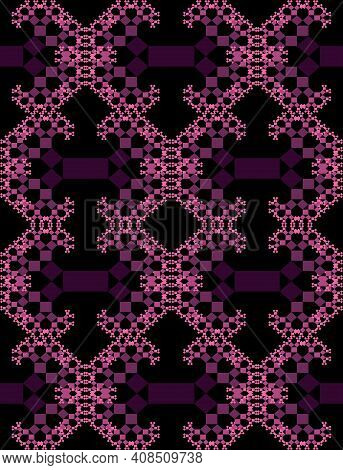 Fractal-inspired Background, Fractal Type Pythagoras Tree, Shrinking Squares Connected By Their Corn