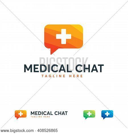 Medical Consult Logo Designs Concept Vector, Doctor Consult Logo Icon