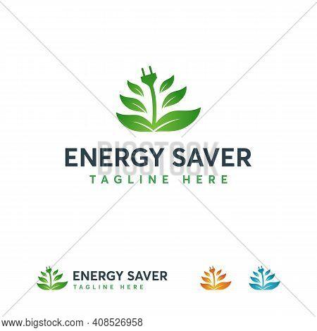 Energy Saver Logo Designs Concept Vector, Electricity Logo Designs