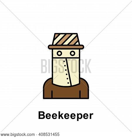 Beekeeper Outline Icon. Element Of Labor Day Illustration Icon. Signs And Symbols Can Be Used For We