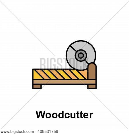 Woodcutter Outline Icon. Element Of Labor Day Illustration Icon. Signs And Symbols Can Be Used For W