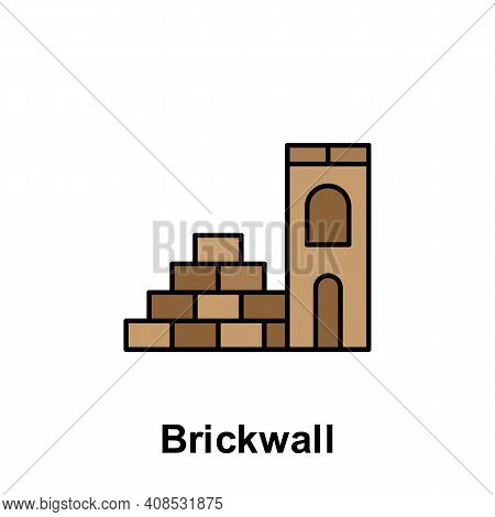 Brick Wall Outline Icon. Element Of Labor Day Illustration Icon. Signs And Symbols Can Be Used For W