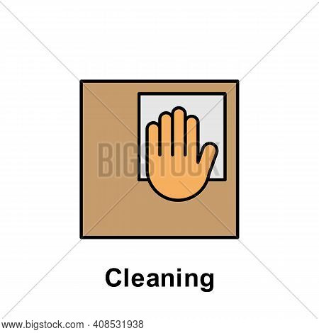 Cleaning Outline Icon. Element Of Labor Day Illustration Icon. Signs And Symbols Can Be Used For Web