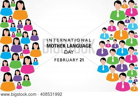 Vector Illustration Of International Mother Language Day Observed On February 21