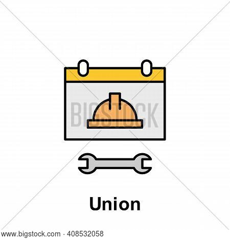 Union Outline Icon. Element Of Labor Day Illustration Icon. Signs And Symbols Can Be Used For Web, L