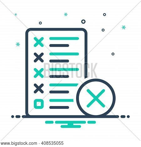 Mix Icon For Mistake Error Message Assignment Manuscript Editing