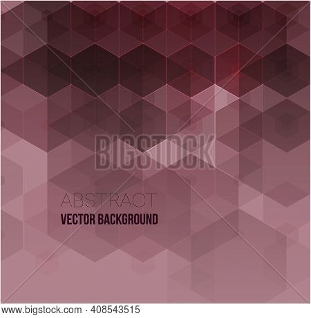 Vector Abstract Science Background. Purple Hexagon Geometric Design. Science Innovation Concept Abst