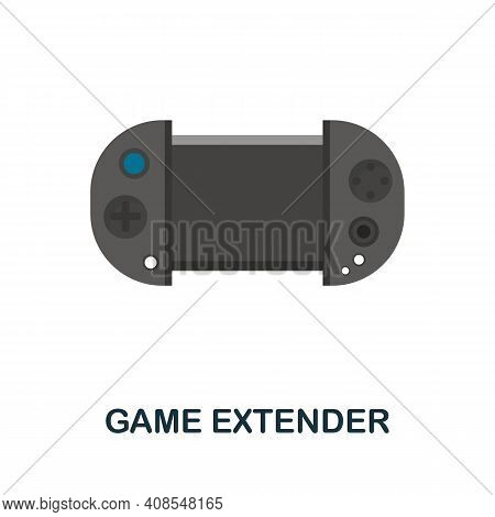 Game Extender Flat Icon. Color Simple Element From Phone Accessories Collection. Creative Game Exten