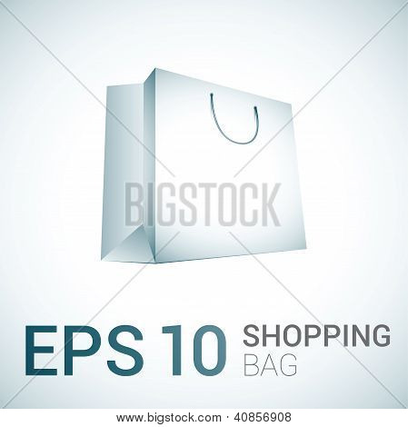 White vector shopping bag