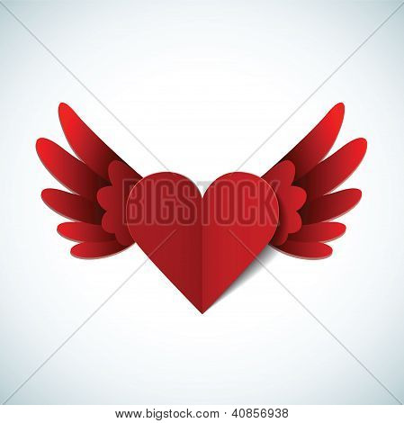 Vector Valentines day postcard with heart