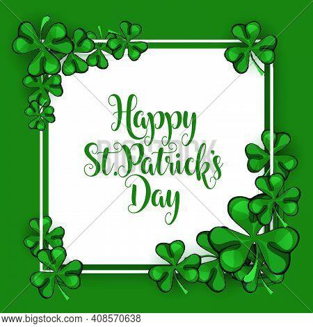 Saint Patrick's Day, Vector Illustration Brochure, Holiday Invitation, Corporate Celebration. Shamro