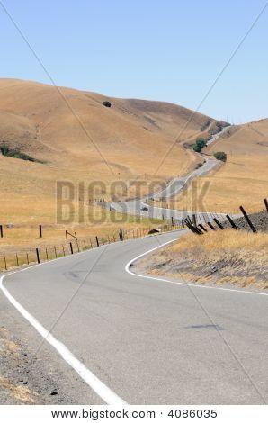 Sportster On A Long Winding Road