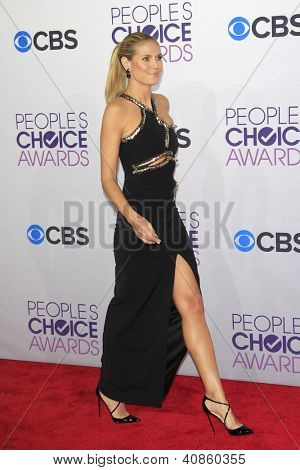 LOS ANGELES - JAN 9: Heidi Klum at the 39th Annual People's Choice Awards at Nokia Theater L.A. Live on January 9, 2013 in Los Angeles, California