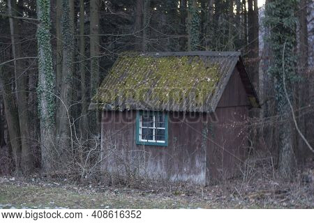 A Wooden Shed Or Timber Construction Building, A Small Accommodation