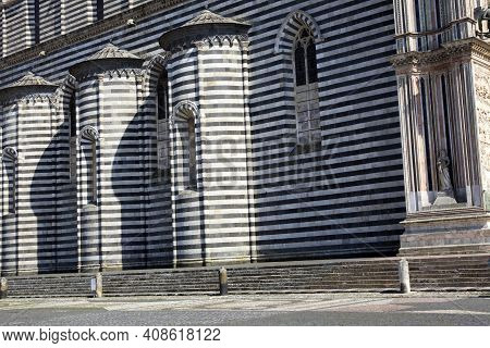 Orvieto (tr), Italy - May 10, 2016: The Orvieto Cathedral Particular, Terni, Umbria, Italy