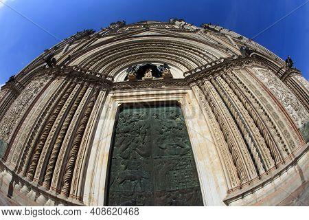 Orvieto (tr), Italy - May 10, 2016: The Orvieto Cathedral, Terni, Umbria, Italy