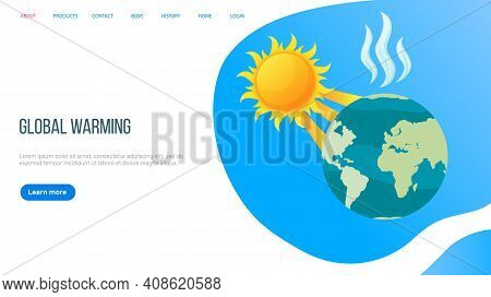 Global Warming, Ground Heating, High Degree Outdoor, Sun And Hot Weather Concept. Environmental Cata
