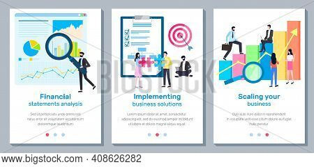 A Set Of Banners Scaling Your Business Landing Page Template, Financial Statements Analysis, Impleme