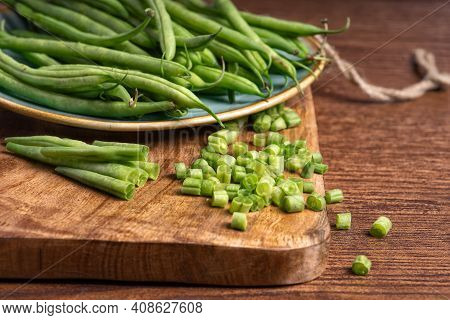 Green Young Stalks Of Beans. Green Diet. Super Food. Vegetarianism. Raw Food.