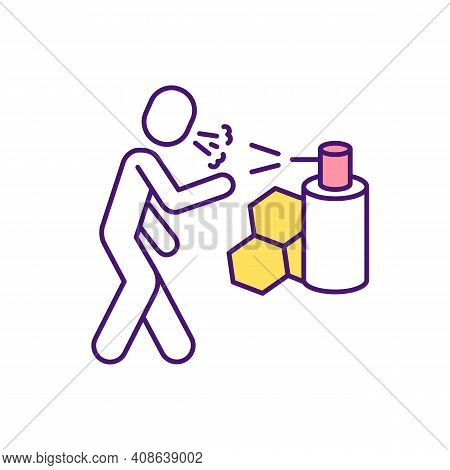 Natural Cough Remedy Rgb Color Icon. Honey For Relieving Cough. Anti-inflammatory Properties. Cure F