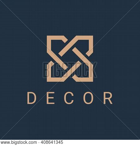 Celtic Knot Ornament. Monogram Logo Icon Design Template For Business. Luxury Geometric Emblem With