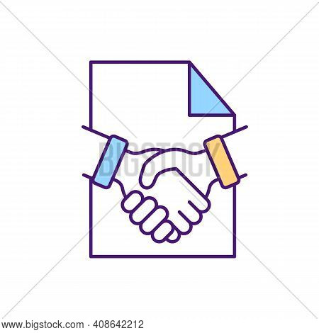 Contract Management Rgb Color Icon. Commercial Contracts Types. Storing Contract Documents. Getting