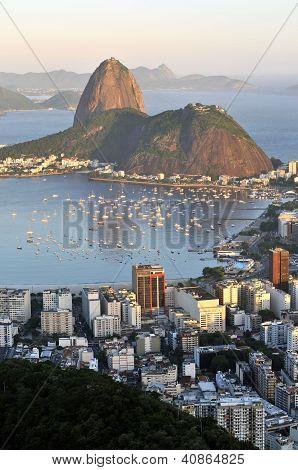 Sugarloaf And Guanabara Bay