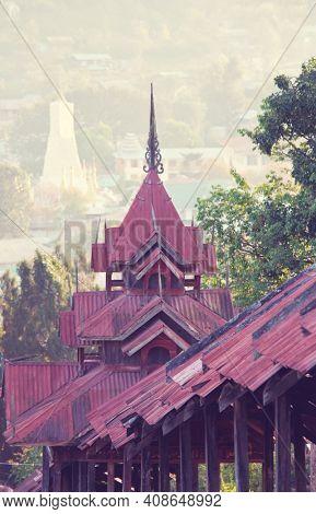 Buddhist temple in Myanmar (Burma)