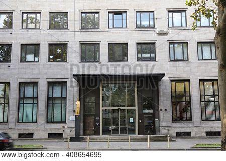Dortmund, Germany - September 16, 2020: Deutsche Bundesbank, Literally