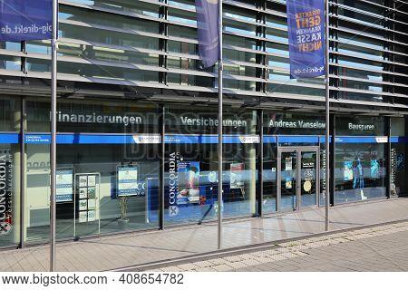 Dortmund, Germany - September 16, 2020: Concordia Insurance Agency In Downtown Dortmund, Germany. Co