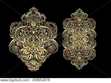 Tradition Floral Pattern, Damask Vintage Ornament. Royal Victorian Flourish Wallpapper, Luxury Texti