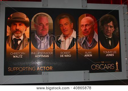 LOS ANGELES - JAN 10:  Supporting Actor Nominations at the 2013 Academy Award nomination announcements at Samuel Goldwyn Theater on January 10, 2013 in Beverly Hills, CA