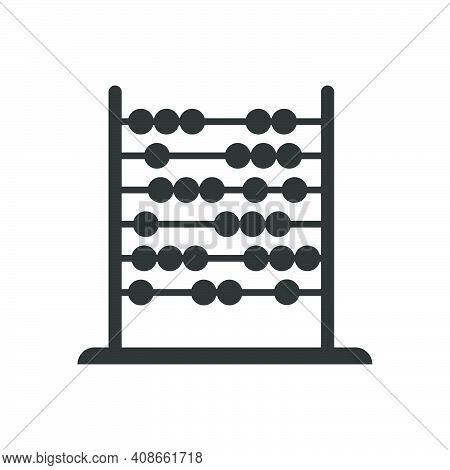 Abacus Mathematic Vector Illustration Symbol Education School Icon. Count On Abacus Isolated White A