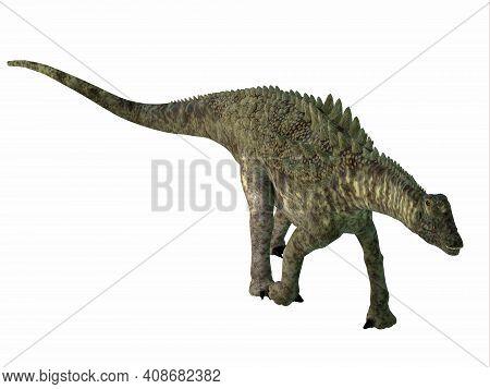 Ampelosaurus Dinosaur Armor 3d Illustration - Ampelosaurus Was An Armored Sauropod Herbivorous Dinos