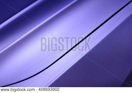 Violet Car Bodywork Detail, Part Of Hood And Fender Of Sport Sedan, Steel Gradient Line Pattern, Aut