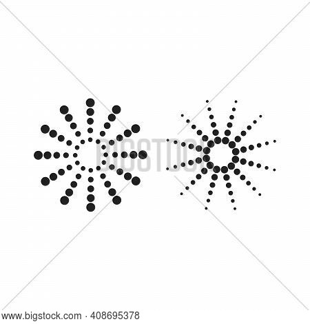 Set Line Burst, Sunburst, Starburst Isolated. Trendy Graphic Design Elements. Vector Illustration On