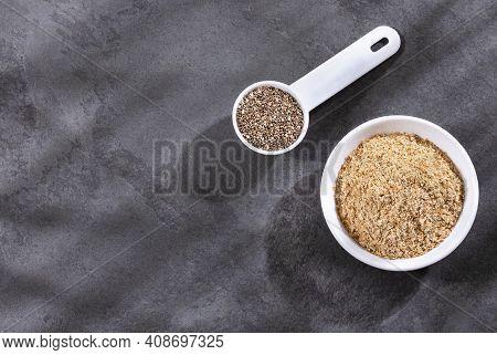 Organic Ground Chia Seeds - Salvia Hispanica