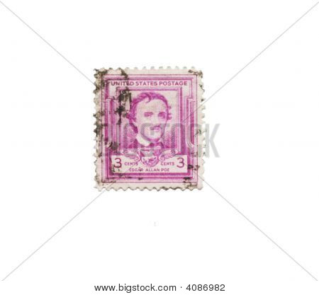 Usa Postage Stamp Of Edgar Allen Poe