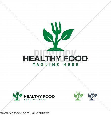 Healthy Food Logo Designs Concept Vector, Nature Food Logo Template, Food Nutrition Logo Symbol