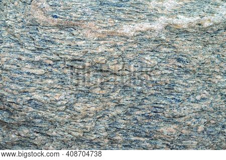 Grey And Pink Granite Untreated Surface. Natural Background. Stone Texture. Copy Space, Place Fot Te