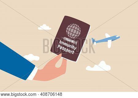 Immunity Passport, Covid-19 Vaccine Certificate For International Travel, Coronavirus Immune Documen