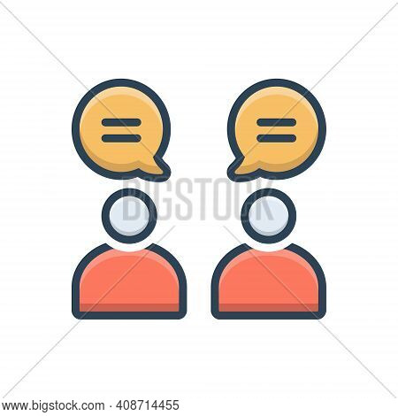 Color Illustration Icon For Discussion  Group  Meeting Argument