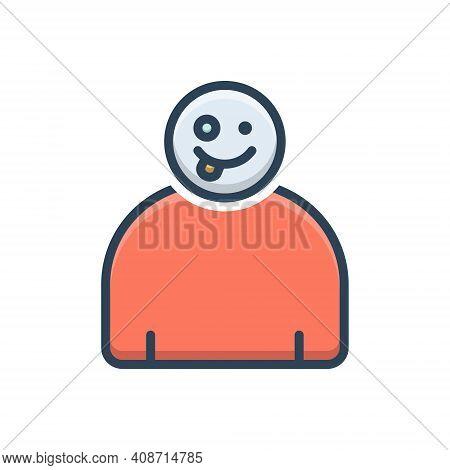 Color Illustration Icon For Crazy Capricious Rapturous