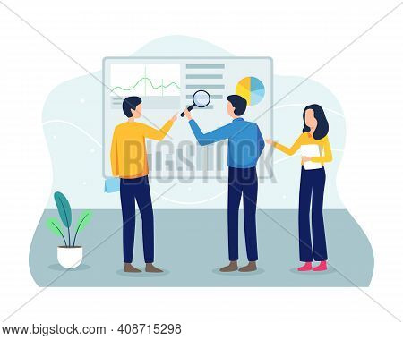 Analyze Graphs And Data Concept Illustration