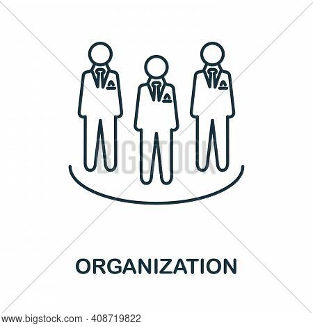 Organization Icon. Simple Element From Management Collection. Creative Organization Icon For Web Des