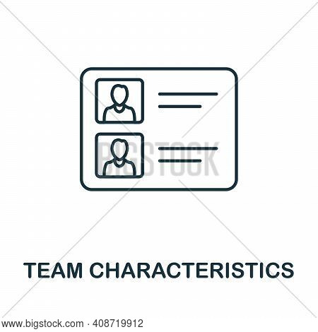 Team Characteristics Icon. Simple Element From Management Collection. Creative Team Characteristics