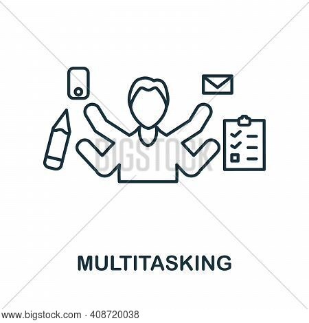 Multitasking Icon. Simple Element From Management Collection. Creative Multitasking Icon For Web Des