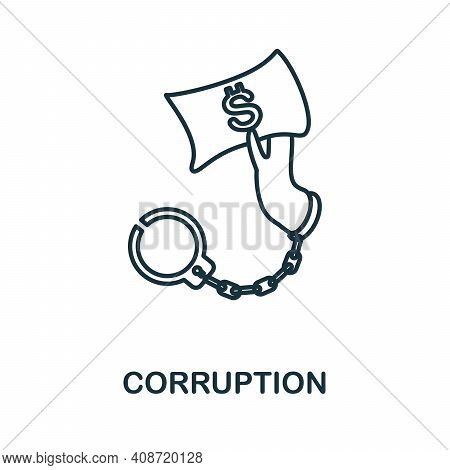 Corruption Icon. Simple Element From Management Collection. Creative Corruption Icon For Web Design,