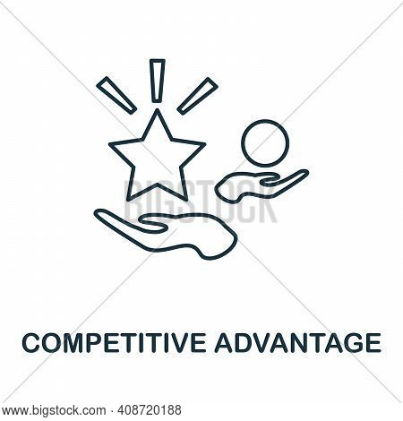 Competitive Advantage Icon. Simple Element From Management Collection. Creative Competitive Advantag